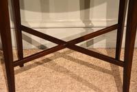 19th Century Mahogany Oval Lamp Table (4 of 5)
