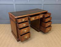 Edwardian Burr Walnut Pedestal Desk (2 of 14)