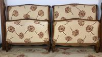 French Pair of Roll End Single Bed Frames with Slatted Bases (4 of 17)