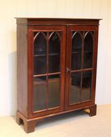 Mahogany Gothic Glazed Bookcase (8 of 11)