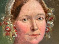 Fine Large Period 19th Century half-length Oil Portrait Painting of a Victorian Lady (6 of 12)