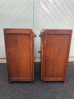 Pair of Antique Oak Bedside Cabinets (7 of 8)