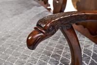 Fine Georgian Revival Walnut Chair back Settee, with carved Eagle head c.1900 (6 of 7)