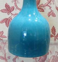 Chinese Turquoise Glaze Mallet Shape Vase 6 Character Mark (3 of 7)