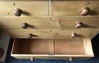 Stripped Pine Chest of Five Drawers (3 of 9)