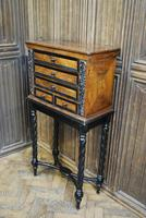 Walnut Collectors Cabinet on Stand (6 of 9)