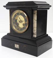 Fine French Slate & Marble Mantel Clock 8 Day Striking Mantle Clock (8 of 10)