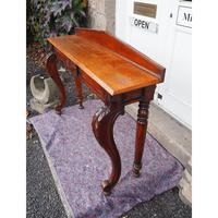 Narrow Scottish Oak Console Hall Table (2 of 7)