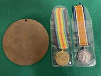 South Wales Border Private William Scott Medals & Death Plaque (3 of 10)