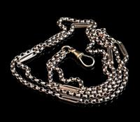 Antique 9ct gold muff chain, Victorian necklace (5 of 17)