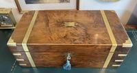 Victorian Brass-bound Walnut Writing Slope with Secret Drawers (11 of 39)