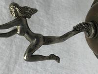 Fine Small Original Art Deco Chrome Nude Lady Table Lamp Light Base (7 of 21)