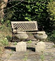 Weathered Reconstituted Pressed Stone Garden Urns (3 of 7)