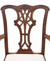 Set of 8 (6+2) mahogany dining chairs Georgian revival C1910 (8 of 11)