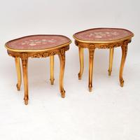 Pair of Antique French Style Giltwood Side Tables (3 of 10)