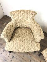 Victorian Three Piece Suite with Gold Floral Upholstery (22 of 26)