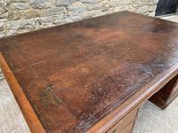 Huge Antique Victorian Oak Partners Desk (5 of 24)