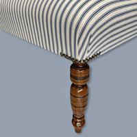 Buttoned Ticking Low Footstool (2 of 8)