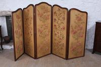 Beautiful Old Art Nouveau 5 Fold Screen (6 of 14)