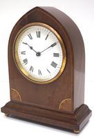 Impressive Thin Mahogany Edwardian Lancet Clock Timepiece Mantel Clock (3 of 11)