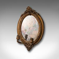 Pair of Antique Girandole Mirrors, English, Giltwood, Ovall, Wall, Regency, 1820 (3 of 10)