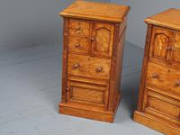 Antique Pair of Satinwood Bedside Cabinets by M. Woodburn (5 of 13)
