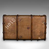 Large Antique Steamer Trunk, English, Cedar, Shipping Chest, Edwardian c.1910 (7 of 12)