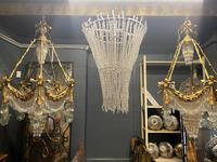 Large 20th Century Bronze Neoclassical Hanging Chandelier 'Pair available' (2 of 2)