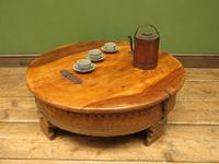 Antique Carved Indian Chakki Table Coffee Table with Lid (12 of 14)