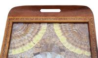 Inlaid Tunbridge Ware Butterfly Serving Tray c.1920 (4 of 5)