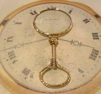 Victorian Pocket Watch Chain Monocle Magnifying Fob 1880s 12ct Rose Gold Filled (2 of 11)