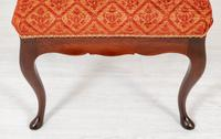 Pair of Mahogany Queen Anne Style Stools (5 of 6)