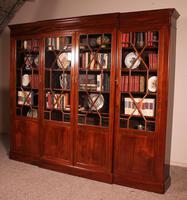 Four Door Breakfront Bookcase In Mahogany-19th Century (10 of 10)