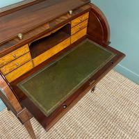 Superb Quality Victorian Antique Cylindrical Mahogany Desk by Maple & Co (12 of 12)
