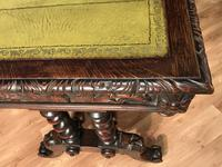 Victorian Carved Oak Desk Library Table (10 of 25)