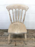 Set of Four Antique Spindle Back Kitchen Chairs (5 of 9)