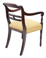 Georgian Mahogany Elbow Desk Carver Chair c.1820 (2 of 8)