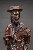 Decorative & Rare Complete Carved Walnut Sculpture of Hieronymus with the Lion (3 of 12)