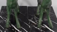 Art deco bronze goat kids marble book ends bousquet (10 of 12)