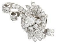4.39ct Diamond & Platinum Earrings - Art Deco - Vintage c.1940 (4 of 9)