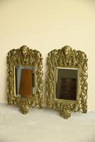 Pair of Brass Wall Mirrors (6 of 10)