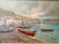 Oil on Canvas of Winter Lakeside Scene (4 of 4)