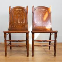 Pair Attractive Victorian Pierced Bentwood Side Chairs (2 of 14)