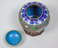 Antique Champleve Cloisonne Lidded Jar on Stand (7 of 7)