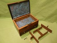 Unisex Rosewood Jewellery Box. Front Drawer. C1830. (6 of 11)