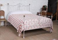 Lovely Early Victorian King Size Iron & Brass Bed (2 of 9)