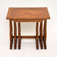 Antique Regency Style Figured Walnut Nest of Tables (5 of 12)