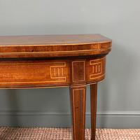 Elegant Georgian Mahogany Antique Side Card Table (2 of 8)