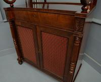 Fine Regency Mahogany Chiffonier Side Cabinet (17 of 18)
