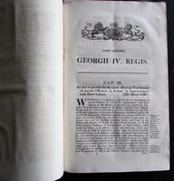 1826 Collection of 79 Government Acts Passed in the Seventh Year of the Reign of His Majesty King George the Fourth (8 of 8)